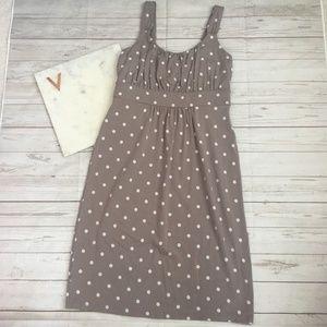 ann taylor womens xxsp grey polka dot dress empire